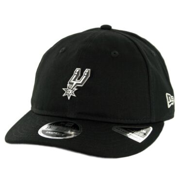 4f1a8638b19 New Era 9Fifty San Antonio Spurs Badged Fan Retro Snapback Hat Black ...