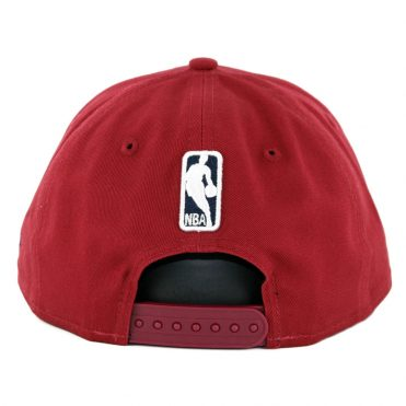 ccee3515804 ... New Era 9Fifty Cleveland Cavaliers Badged Fan Retro Snapback Hat  Burgundy