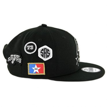 e755e53705c ... New Era 9Fifty San Antonio Spurs NBA 2018 Draft Snapback Hat Black