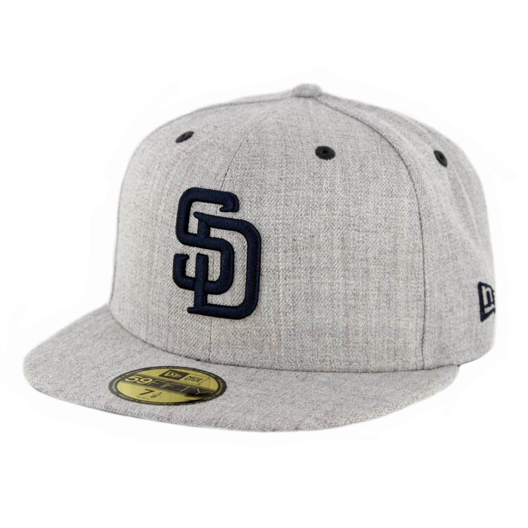 ca63728d New Era 59Fifty CTO San Diego Padres Fitted Hat Heather Grey ...