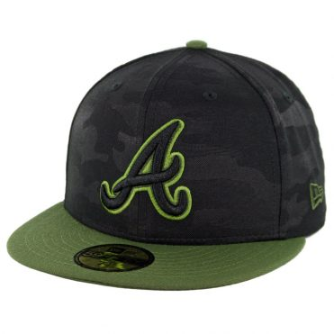 best cheap 4d30a dc1c6 ... germany new era 59fifty atlanta braves 2018 memorial day fitted hat  black army green f3637 640b1