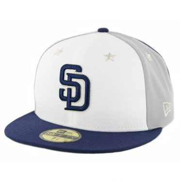 pretty nice 88149 b1c85 ... order new era 59fifty san diego padres 2018 all star game fitted hat  navy grey white