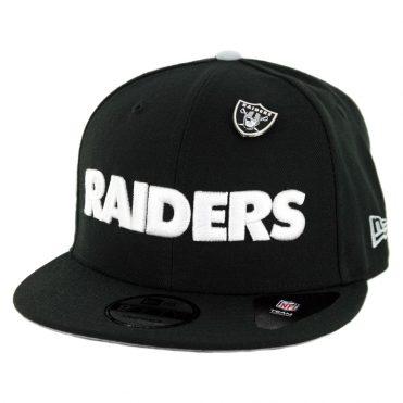 New Era 9Fifty Oakland Raiders Pinned Snapback Hat Black ... e705efcc7