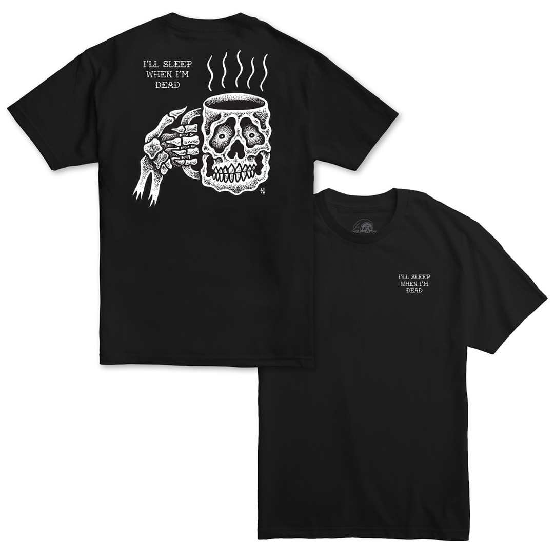 Sketchy Tank Coffee Scratch N Sniff T-Shirt Black