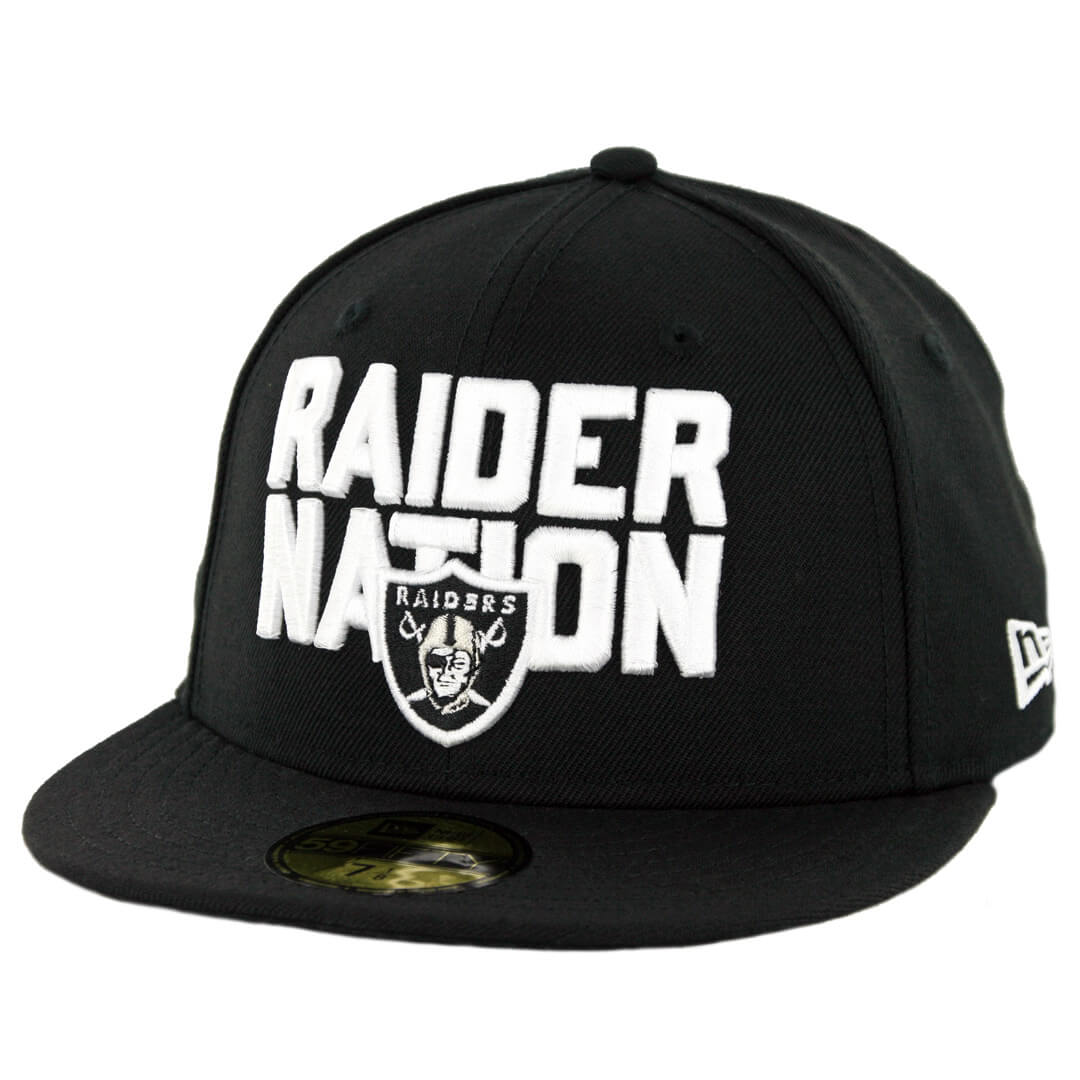 cd33aaeb New Era 59Fifty Oakland Raiders Raider Nation Fitted Hat Black