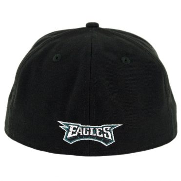 New Era 59Fifty Philadelphia Eagles Fitted Hat Black Midnight Green