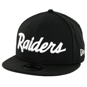 New Era 9Fifty CTO Oakland Raiders Script Snapback Hat Black White