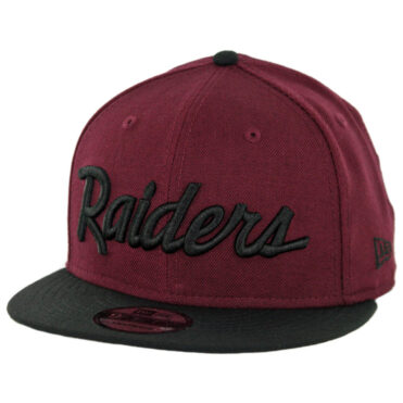 New Era 9Fifty CTO Oakland Raiders Script Snapback Hat Maroon Black