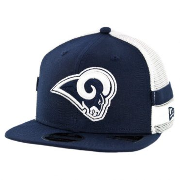 New Era 9Fifty Los Angeles Rams Striped Side Lineup Snapback Hat Navy