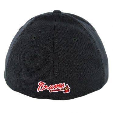 New Era 39Thirty Atlanta Braves Road Team Classic Stretch Fit Hat Dark Navy