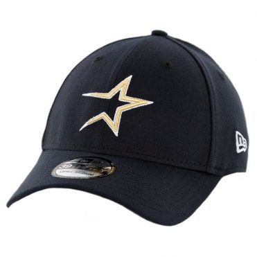 bb410551cd0 New Era 39Thirty Houston Astros Team Classic Cooperstown Stretch Fit Hat  Dark Navy ...