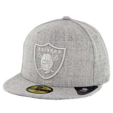 New Era 59Fifty Oakland Raiders Twisted Frame Fitted Hat Grey