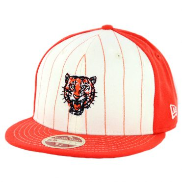 139dc6493 New Era 59Fifty Detroit Tigers 1957-1960 Vintage Stripe Cooperstown Fitted  Hat Orange ...