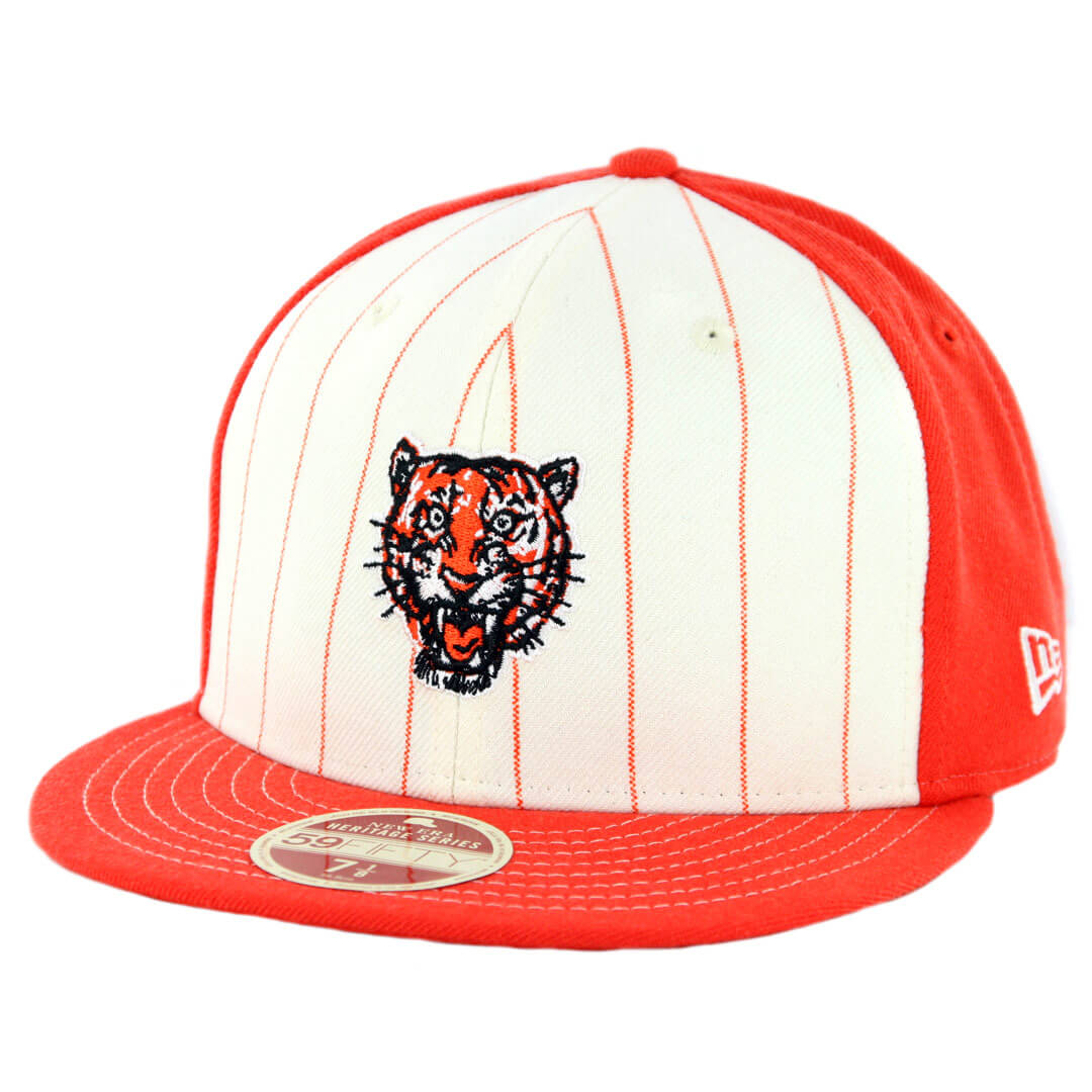 pretty nice b251f 39c25 New Era 59Fifty Detroit Tigers 1957-1960 Vintage Stripe Cooperstown Fitted  Hat Orange