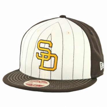 789598808c9e2 New Era 59Fifty San Diego Padres 1991 Vintage Stripe Cooperstown Fitted Hat  Brown ...