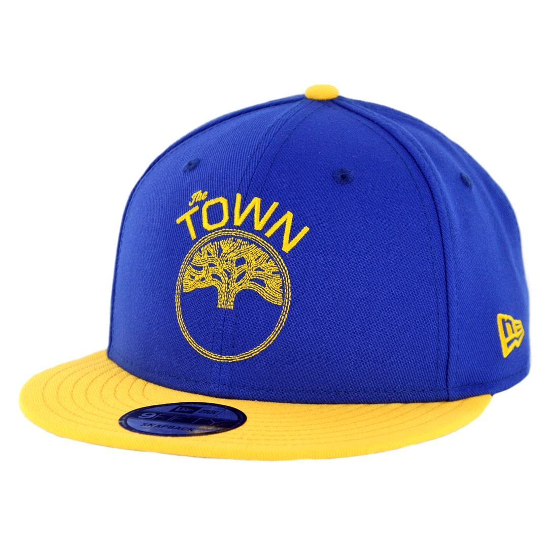 huge selection of 62f17 abb57 New Era 9Fifty Golden State Warriors The Town Snapback Hat Royal Blue Yellow