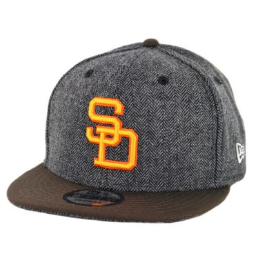 New Era 9Fifty San Diego Padres 1980-1984 Pattern Pop Snapback Hat Heather  Graphite Brown ... cfb2894ae9a7