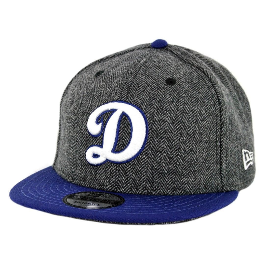 "buy popular 4022e 343c9 New Era 9Fifty Los Angeles Dodgers ""D"" Pattern Pop Snapback Hat Heather  Graphite Dark Royal Blue"
