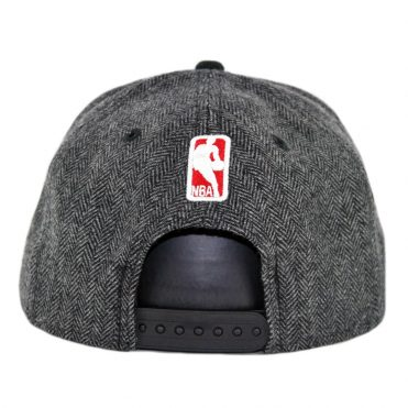 New Era 9Fifty Chicago Bulls Pattern Pop Snapback Hat Heather Graphite Black