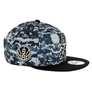 New Era 9Fifty San Antonio Spurs City Series 2018 Snapback Hat Digi Camo Blue