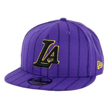 New Era 9Fifty Los Angeles Lakers Alternate City Series 2018 Snapback Hat Deep Purple