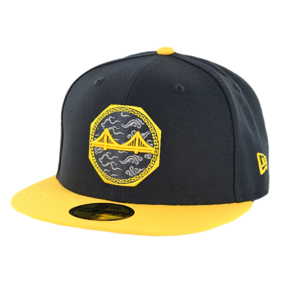 purchase cheap 67832 c8713 New Era 59Fifty Golden State Warriors City Series 2018 Fitted Hat Black  Yellow