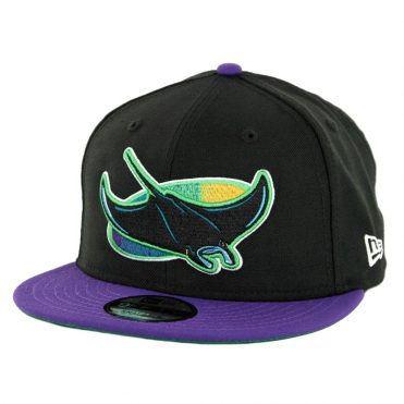 on sale 423e3 95ea7 New Era 9Fifty Tampa Bay Rays Cooperstown Logo Pack Snapback Hat Black ...