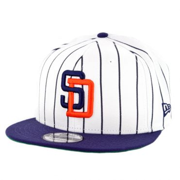 f9b8f053e20c7 New Era 9Fifty San Diego Padres Cooperstown Logo Pack Snapback Hat White ...