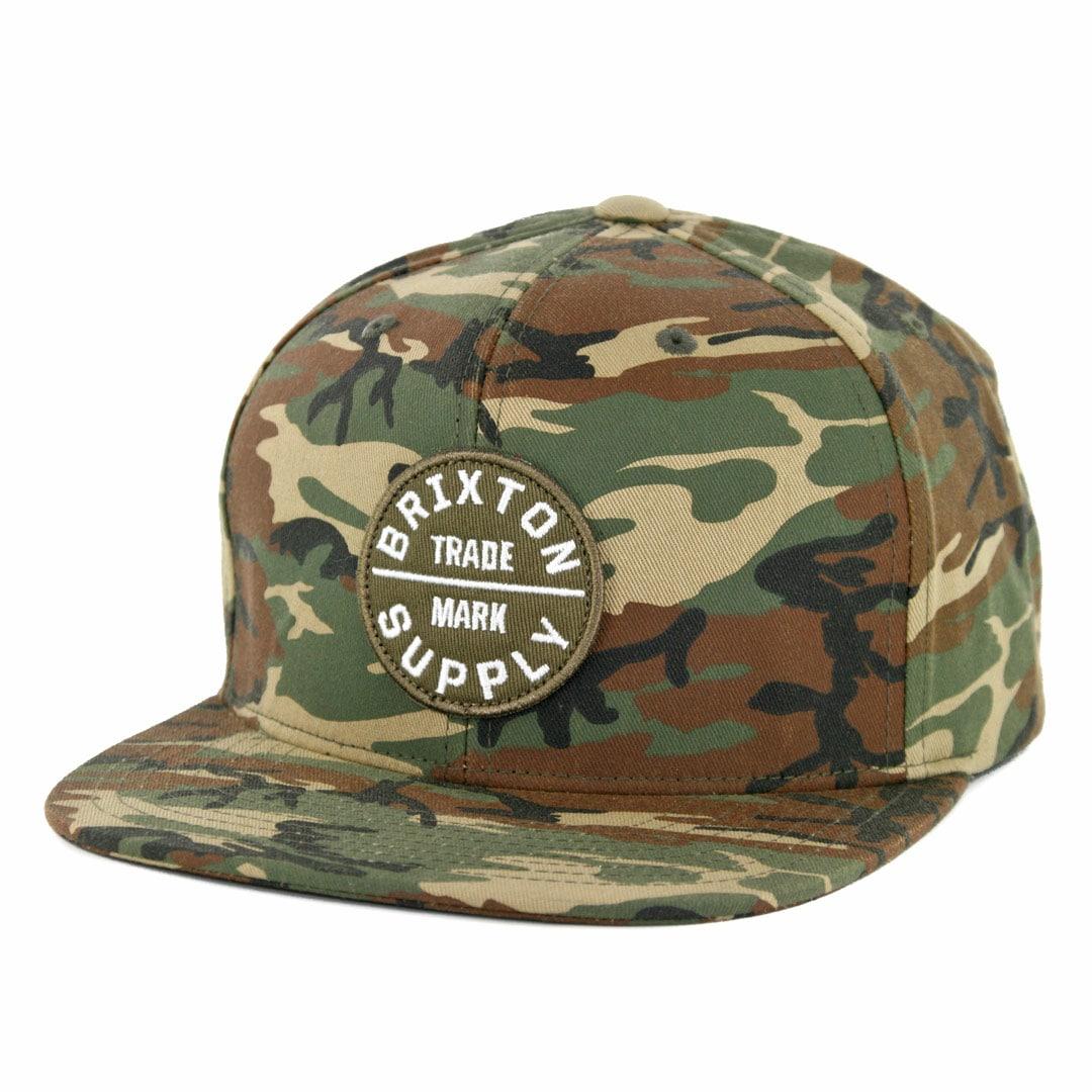 9df4cf84 Brixton Oath III Snapback Hat Olive Camo - Billion Creation Streetwear