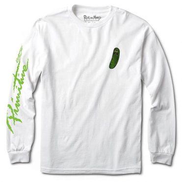 Size Primitive R/&M Pickle Rick T-Shirt MEDIUM Ash Grey Heather