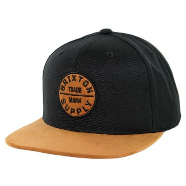 0fb02c9d33256 Brixton Oath III Snapback Hat Copper Black ...