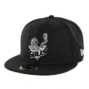 New Era 59fifty San Diego Gulls Muerto Fitted Hat Black