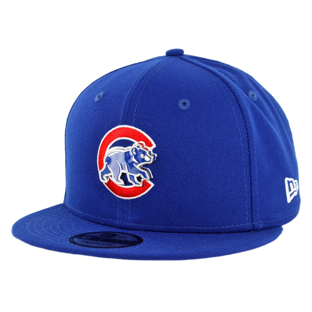 d20f323e New Era 9Fifty Chicago Cubs Metal Thread Snapback Hat Royal Blue