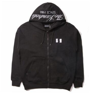 The Hundreds Dubs Zip-Up Hooded Sweatshirt Black