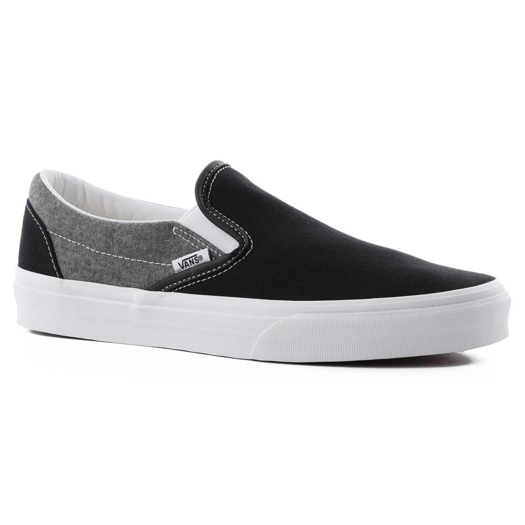 Vans Classic Slip-On Chambray Shoe Black True White
