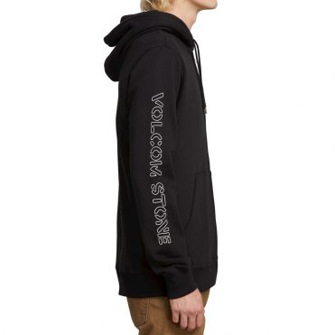 Volcom Supply Stone Zip Up Hooded Sweatshirt Black