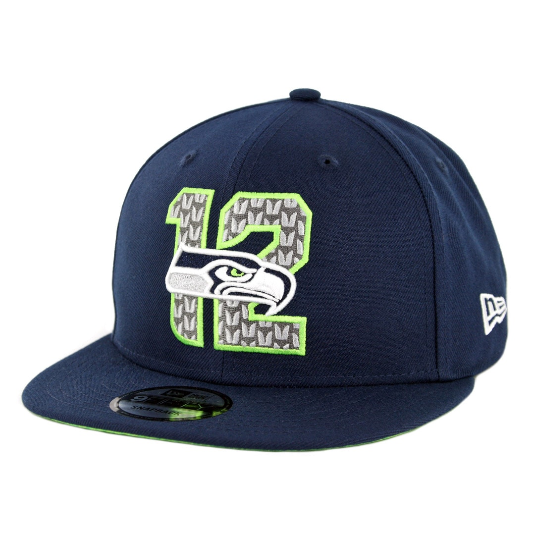 0cbc4f02 New Era 9Fifty Seattle Seahawks NFL 2019 Draft Snapback Hat Official Team  Colors