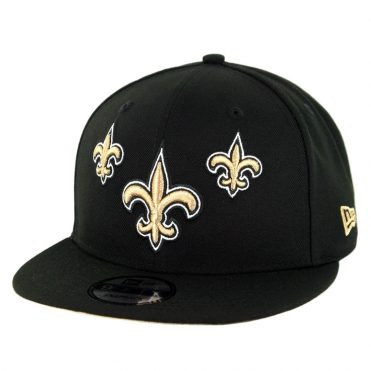 New Era 9Fifty New Orleans Saints NFL 2019 Draft Snapback Hat Official Team Colors