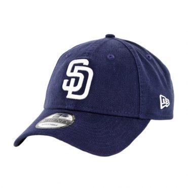 New Era 9Twenty San Diego Padres Home 50th Anniversary Strapback Hat Light Navy