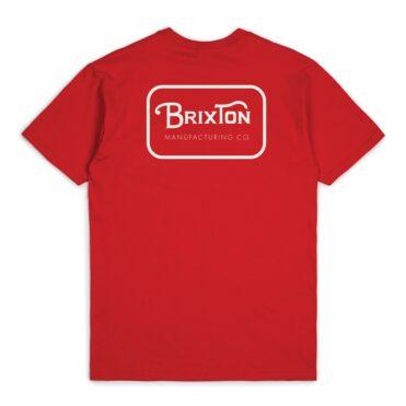 "Olive Brixton /""Rogers III/"" Short Sleeve Standard Tee Men/'s Graphic T-Shirt"