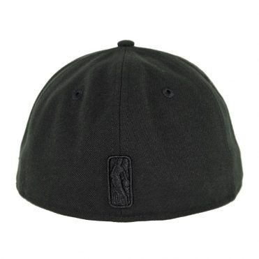 New Era 59Fifty Los Angeles Lakers Blackout Logo Slick Fitted Hat Black