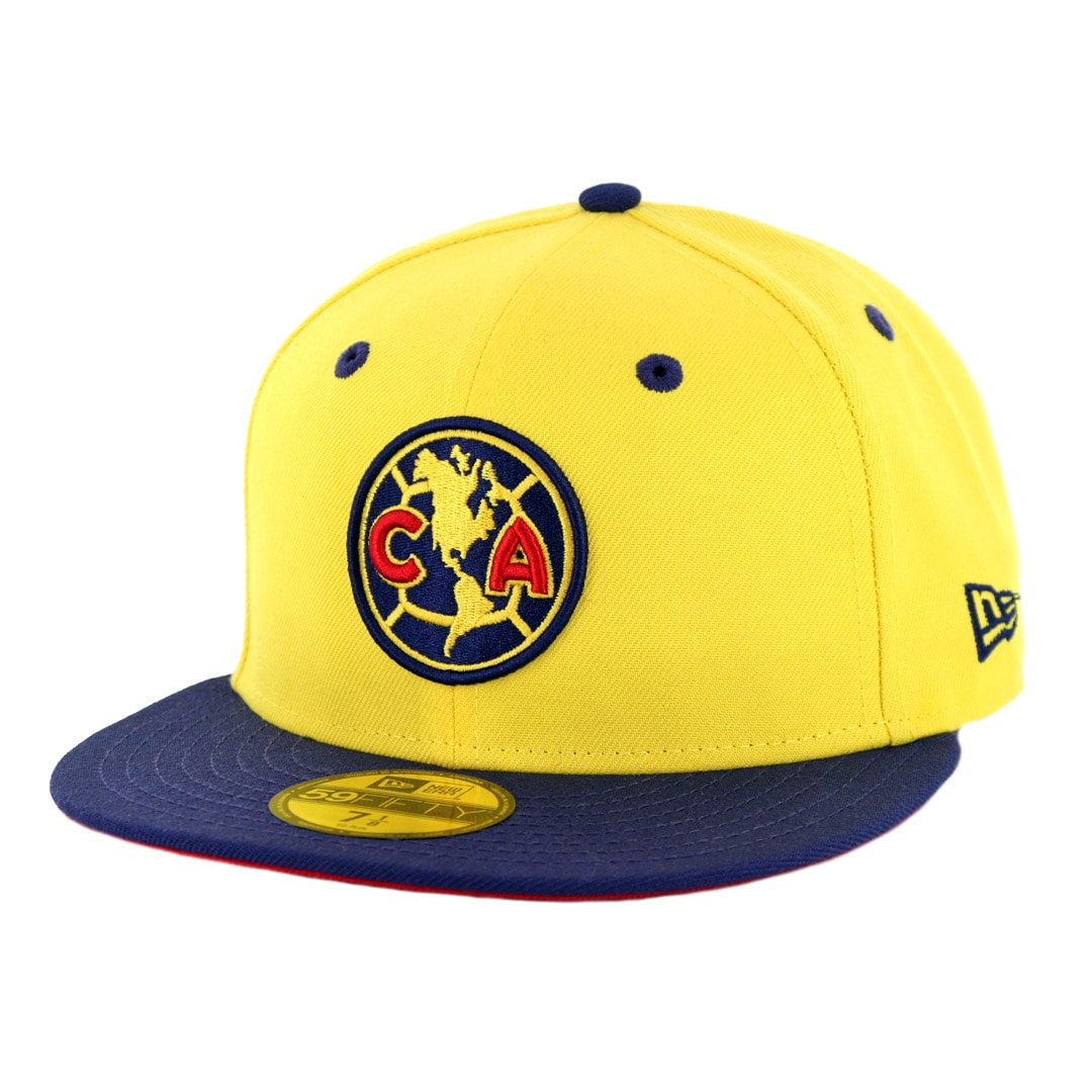 63a41eff9f728e New Era 59Fifty Club America Official Fitted Hat Yellow Navy ...