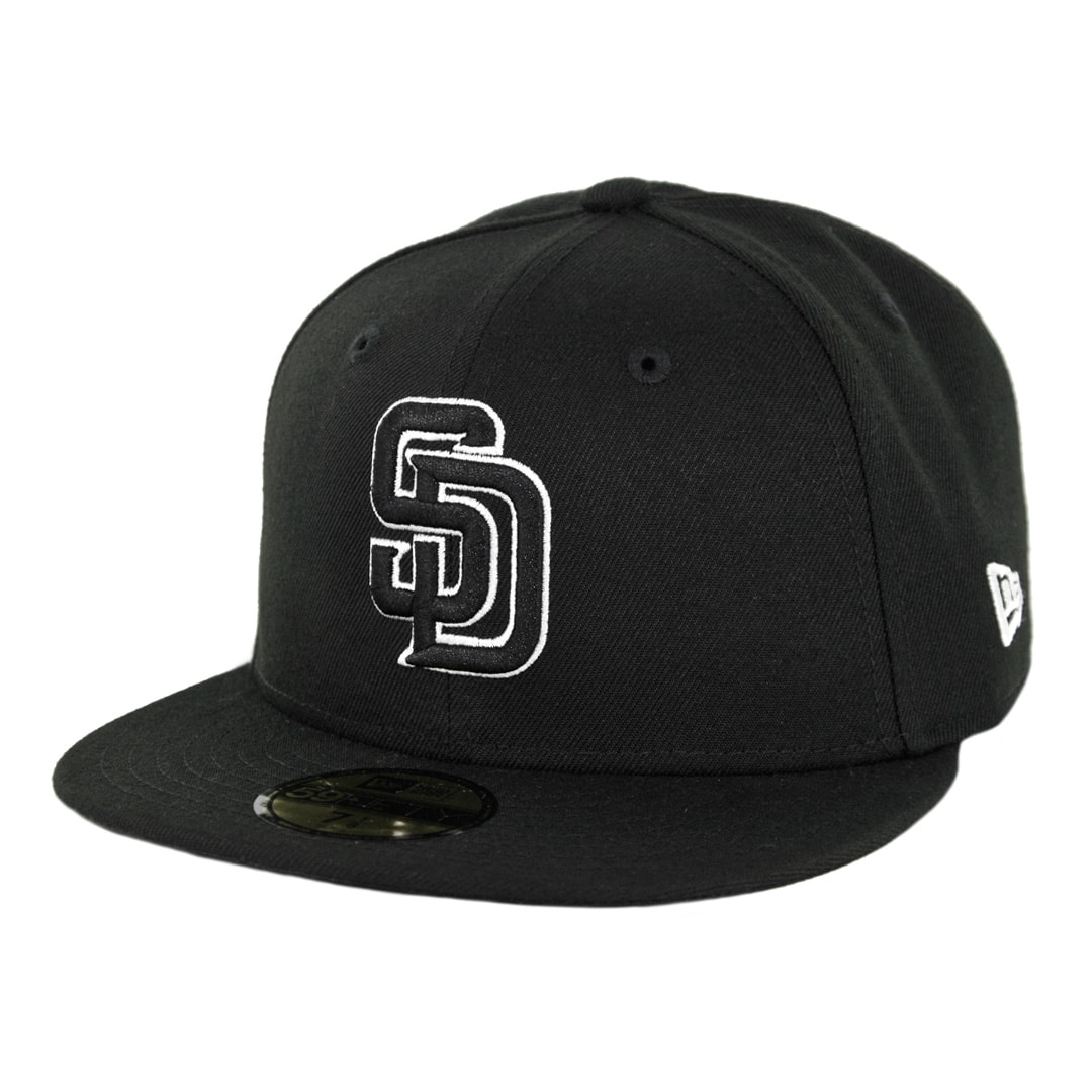 the latest 2100e 3c828 New Era 59Fifty San Diego Padres 50th Anniversary Fitted Hat Black