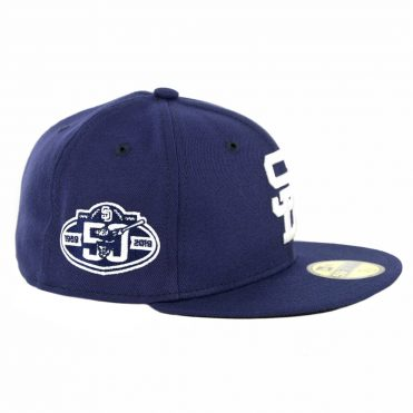 New Era 59Fifty San Diego Padres 50th Anniversary Fitted Hat Light Navy