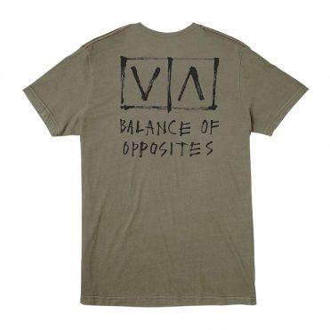 RVCA Horton Box T-Shirt Olive