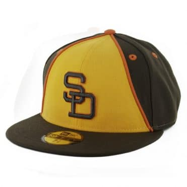 New Era 59Fifty San Diego Padres 1984 Retro Fitted Hat Brown Gold Orange