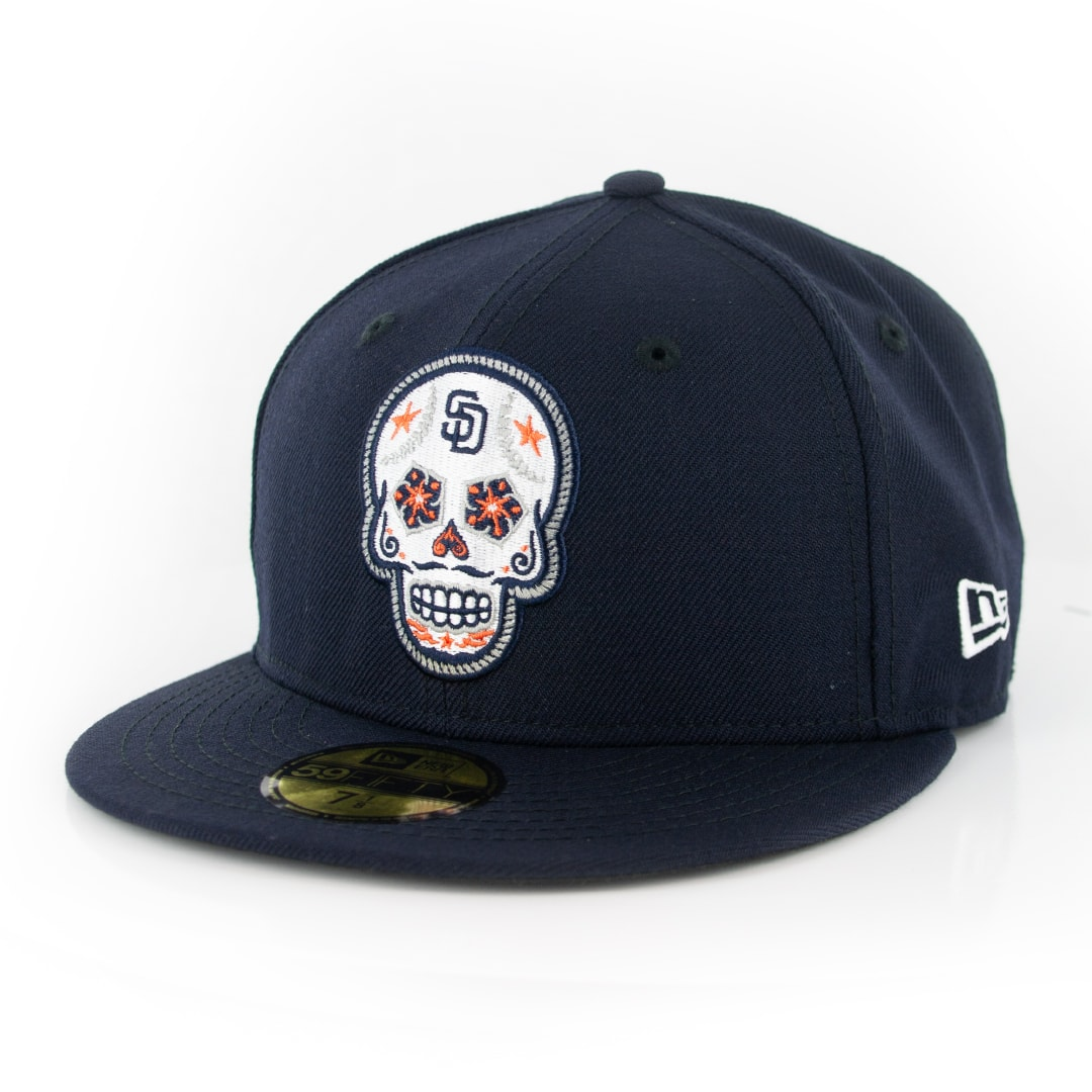 MLB Cap Dark Navy//White New Era 59Fifty San Diego Padres DN WH Fitted Hat