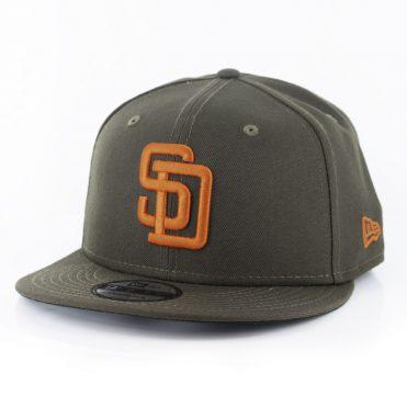 New Era 9Fifty San Diego Padres 1990 Snapback Hat Brown Orange