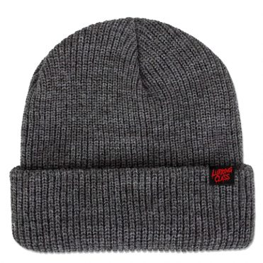 Sketchy Tank Drip Script Beanie Heather Grey