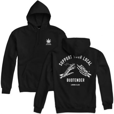 Sketchy Tank Budtender Pullover Hooded Sweatshirt Black